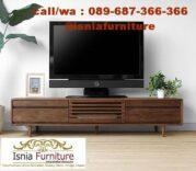 Lemari TV Minimalis Kayu Jati Terbaru Berkualitas