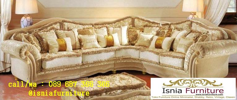 Jual Sofa L Mewah Luxury Klasik Desain Terbaru